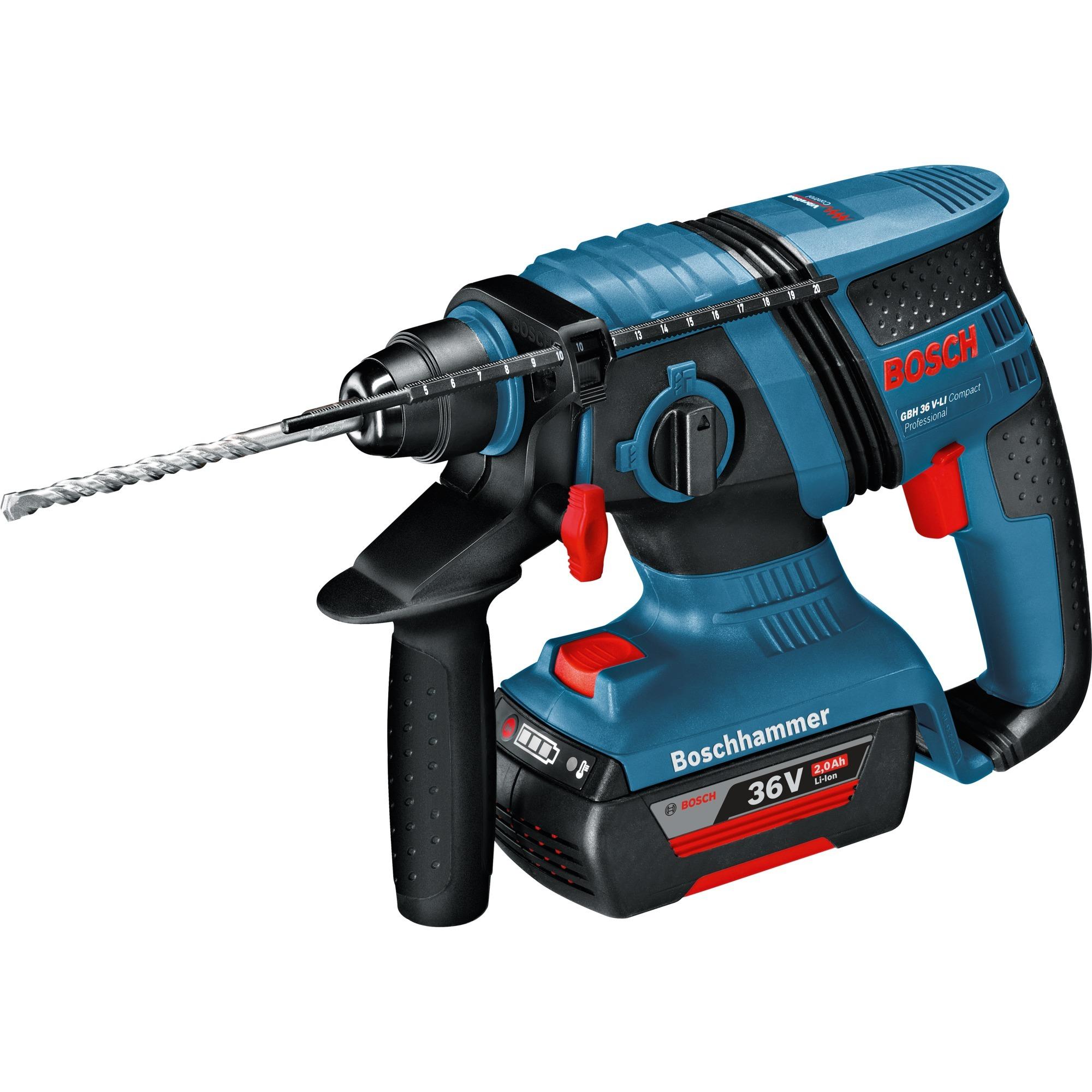 bosch akku-bohrhammer gbh 36 v-ec compact blau, l-boxx 238, 2x akku