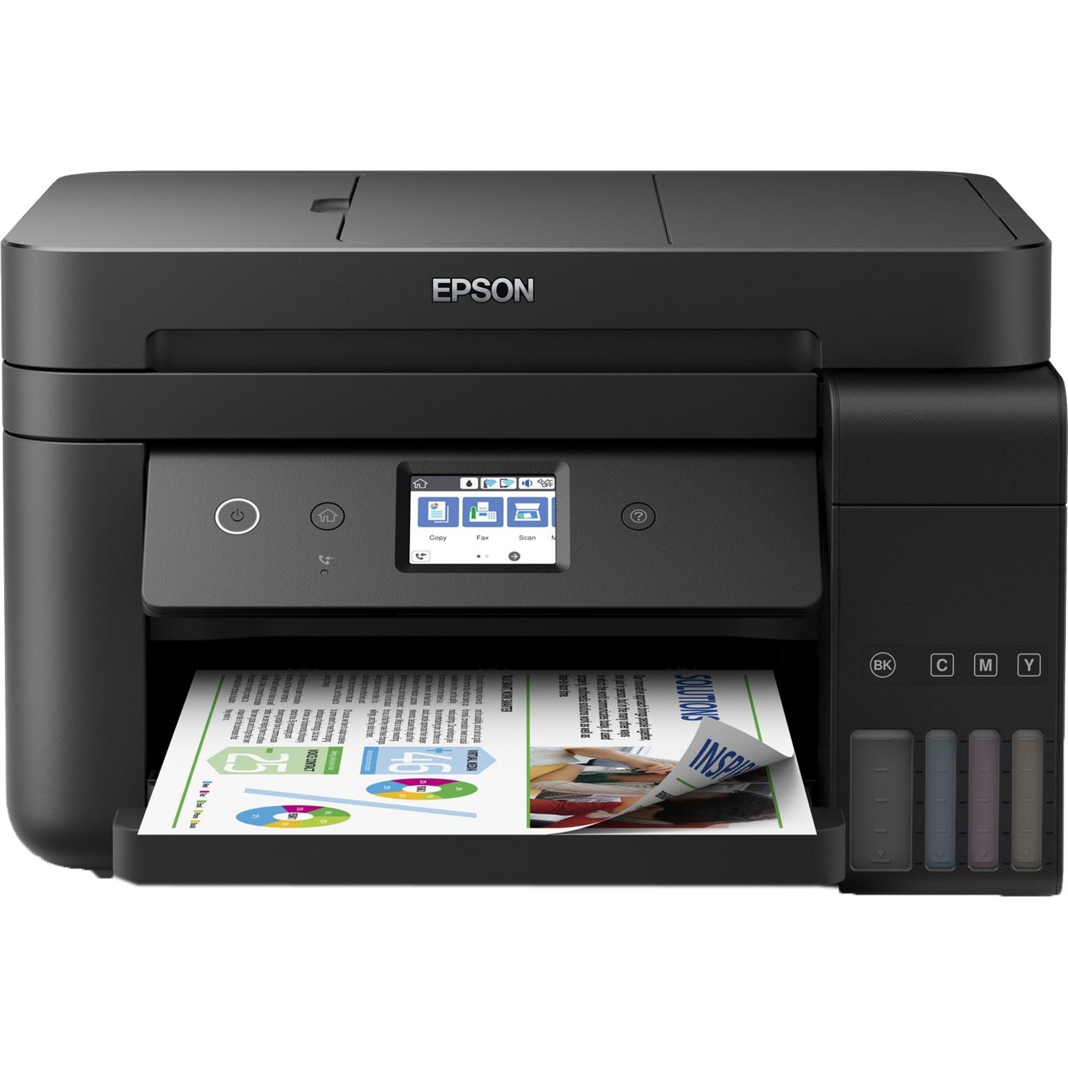 Epson EcoTank ET-4750, Multifunktionsdrucker schwarz, USB, WLAN, LAN ...